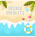 summer holidays the beach horizontal background ve vector image vector image