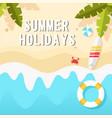 summer holidays the beach horizontal background ve vector image