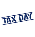 tax day stamp vector image vector image