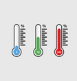 thermometers icon with different levels design vector image vector image