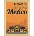 Vintage poster Grand Prix Mexico vector image vector image