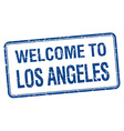 welcome to Los Angeles blue grunge square stamp vector image vector image
