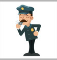 whistle policeman detective police cartoon flat vector image vector image