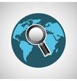 concept globe browser social media vector image
