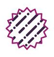 lines and dots frame emblem vector image