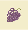 stylized flat icon of a grape vector image