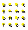 16 track icons vector image vector image