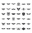 airforce army badge logo icons set simple style vector image