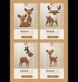 Animal banner with Deers for web design 2 vector image vector image