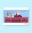arab judge lawyer procurator in uniform with gavel vector image vector image