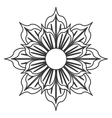 black and white flower icon vector image vector image