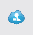 Blue cloud profile application icon vector image
