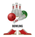 bowling club logo design of equipment for play and vector image