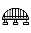bridge outline icon vector image