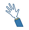 business hand open vector image vector image
