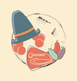 carnival clown hat accessory vector image vector image