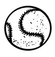 cartoon image of baseball ball vector image vector image