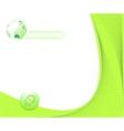 certificate green background vector image vector image