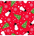 Christmas seamless pattern on a red background vector image