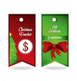 christmas voucher design vector image