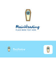 creative coffin logo design flat color logo place vector image vector image