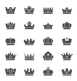 Crown solid icons vector image vector image