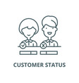 customer status line icon linear concept vector image vector image