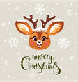 cute deer winter vector image vector image