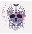 Day of the Dead skull with ornament and w vector image vector image