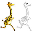 doodle animal for giraffe vector image vector image