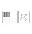 dotted shape airplane ticket travel to vacation vector image vector image