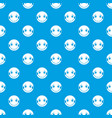 embarrassed emotpattern seamless blue vector image