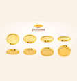 empty 3d gold coins set isolated on vector image