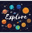 explore fantastic childish background in bright vector image vector image