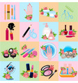 flat icons beauty beauty shop wellness salon vector image