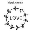 flower wreath graphic design vector image