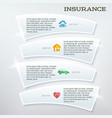 flyer template layout insurance services vector image vector image