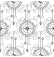 Geometric compass seamless pattern vector image