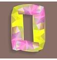 Geometric crystal digit 0 vector image vector image