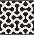 geometric seamless pattern with curved shapes vector image vector image
