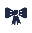 Gift bow with ribbon icon