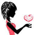 girl and the Valentine's vector image vector image