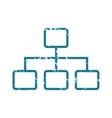 Grunge scheme icon vector image vector image