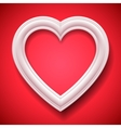 Heart Shaped Picture Frame vector image vector image