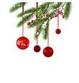 holiday decor balls vector image vector image