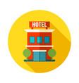 hotel icon summer vacation vector image