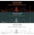 houston event banner hand drawn skyline vector image vector image