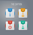icon poker set of person boy uniform and other vector image