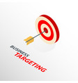 isometric targetng with arrow icon isolated 3d vector image