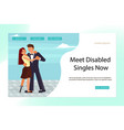 landing page for virtual relationships vector image vector image